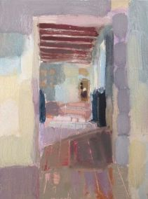 Corridor Forge Neuve, oil on board 18 x 24