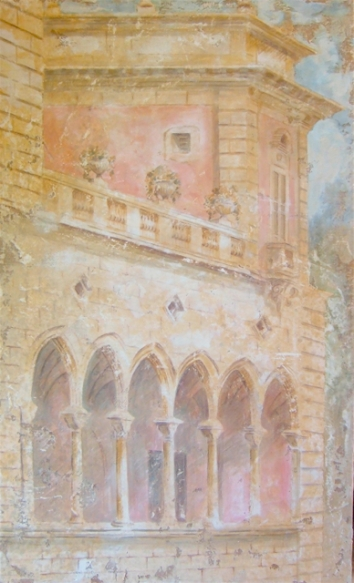 Fresco, a house in Sicily, 210x120