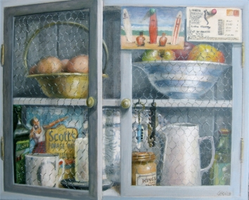 Blue cupboard. Oil on canvas. 40x50