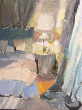 bedlamp: oil on board 24x30