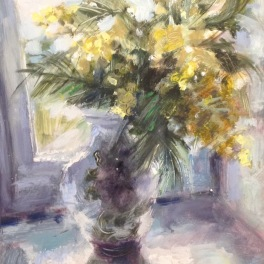 mimosa: oil on board 18x24